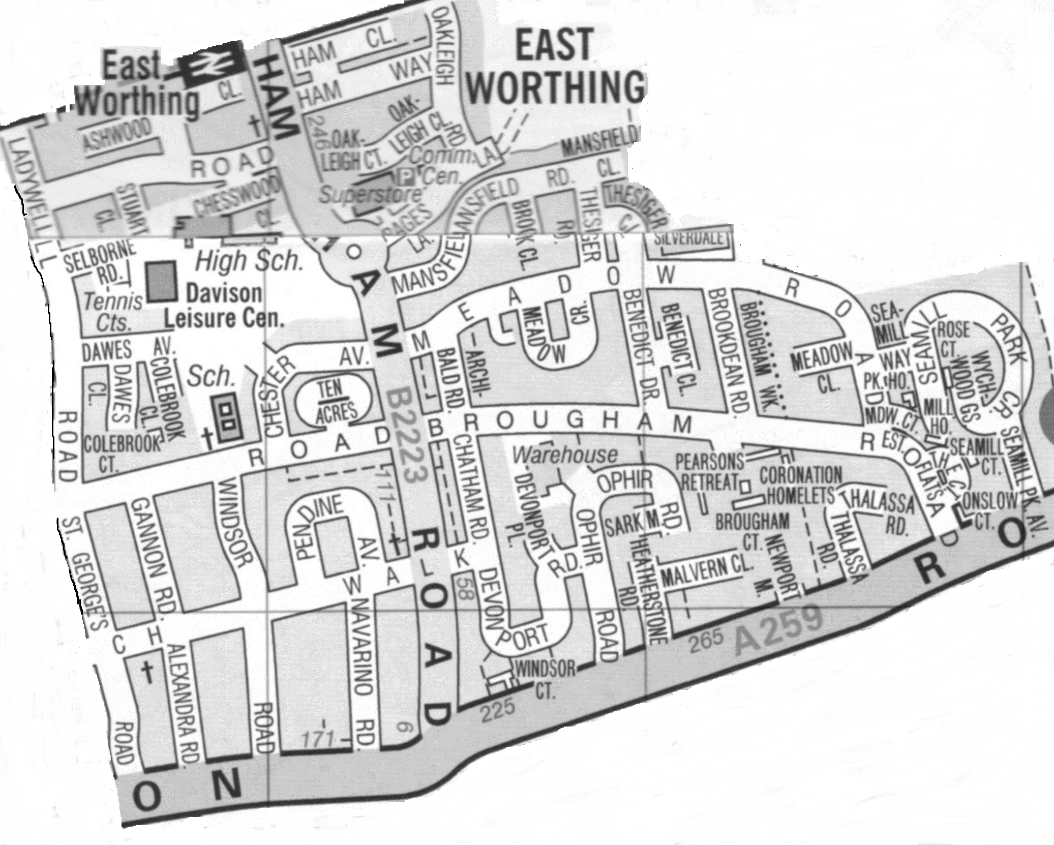 Worthing Direct Leaflet Distribution Services East Worthing area delivery map