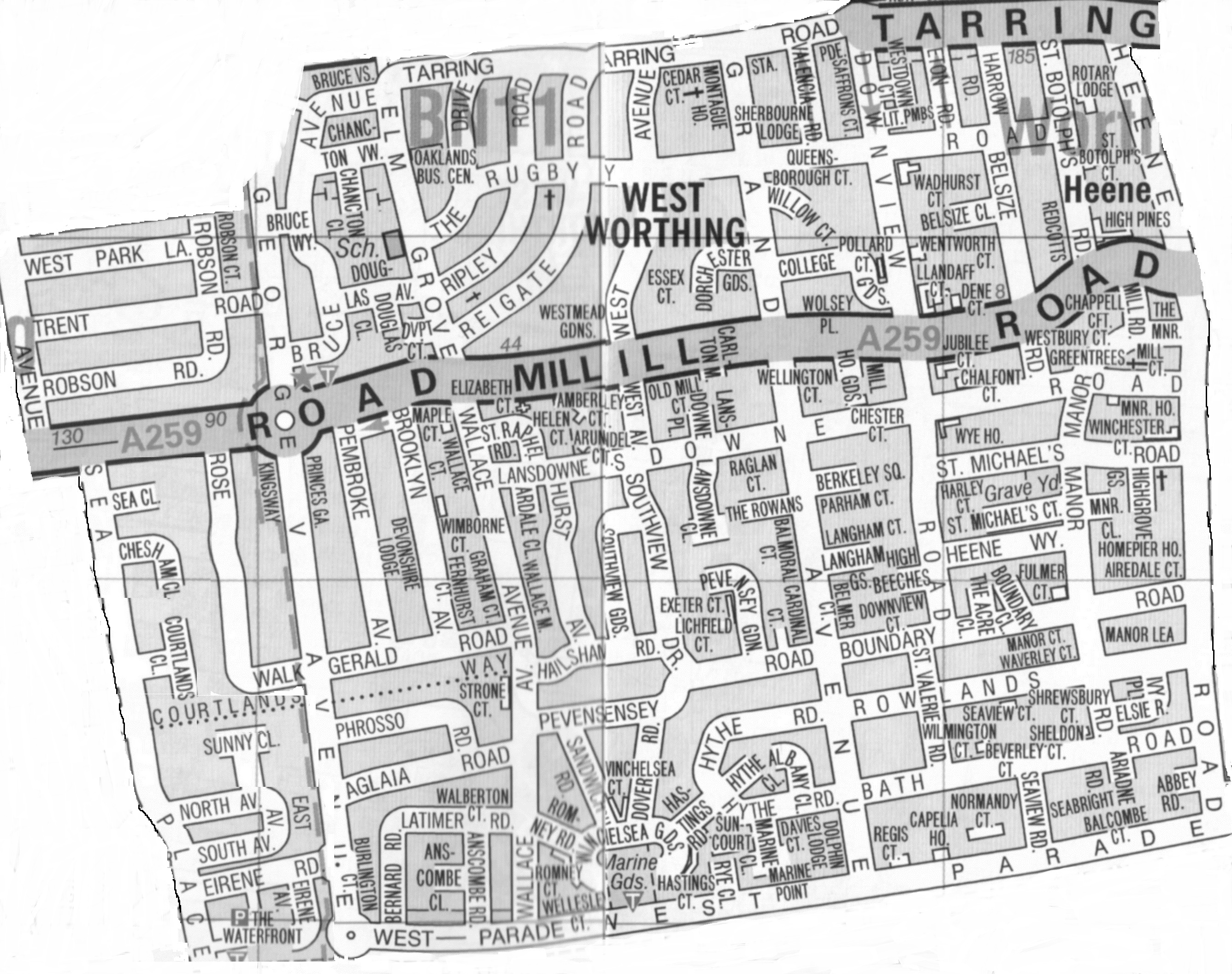 Worthing Direct Leaflet Distribution Services West Worthing delivery area map