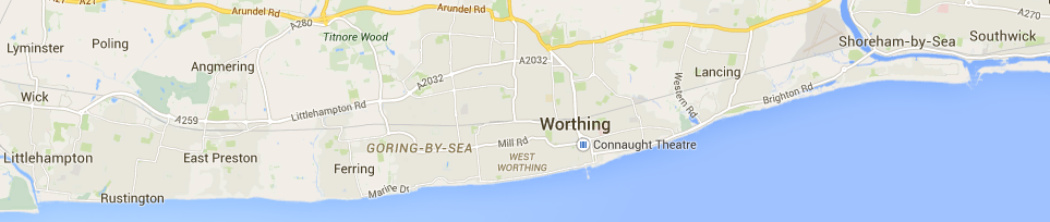 Worthing Littlehampton Shoreham coverage map