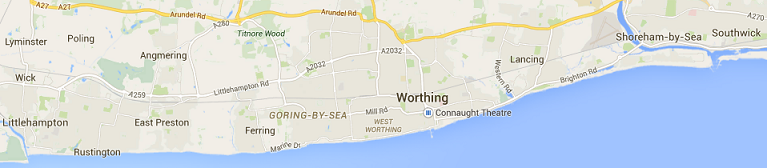 Worthing Direct Leaflet Distribution Services - Coverage map